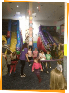 Rock wall with kids